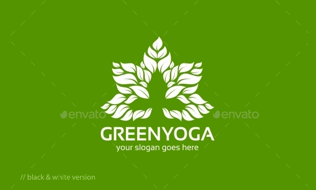 Green Yoga Logo Design