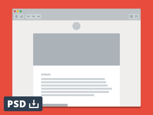 email window mockup