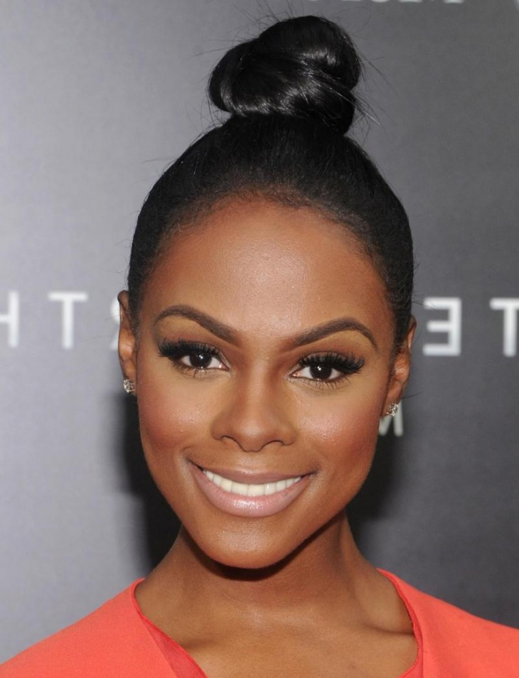 Tika Sumpter Natural Weave Bun Hair