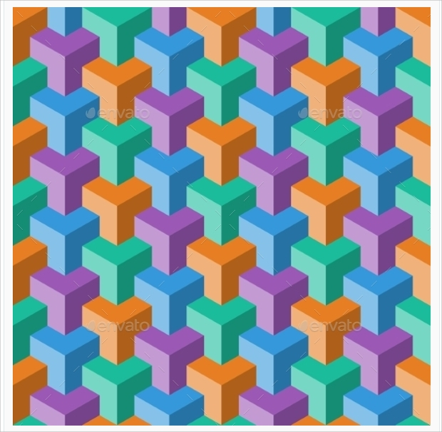 abstract cube pattern design