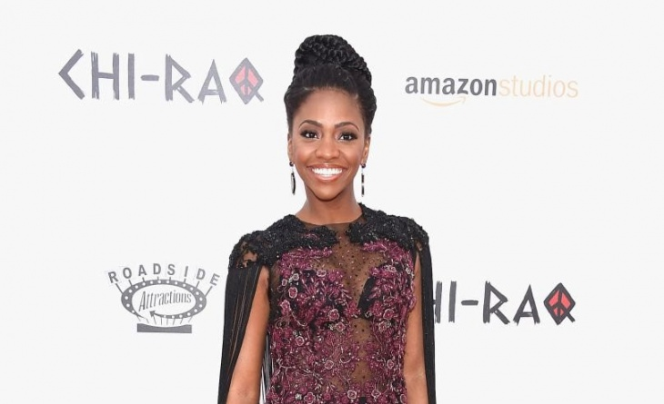 Teyonah Parris Jumbo Braid Bun Idea