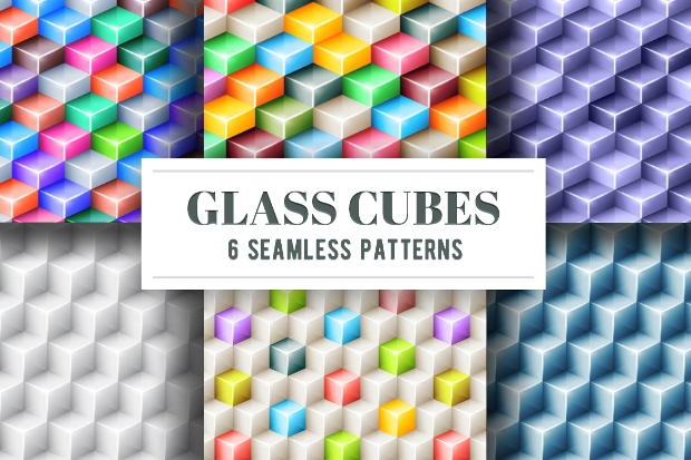 glass cubes seamless pattern
