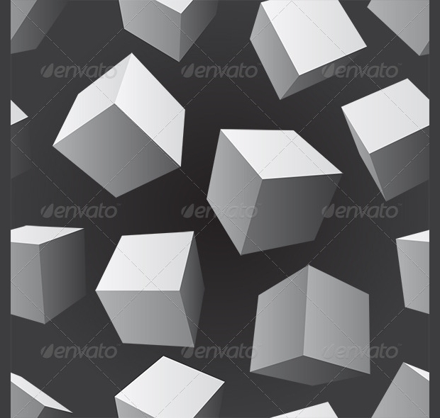 floating cubes pattern design