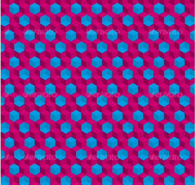 trippy cubes seamless pattern