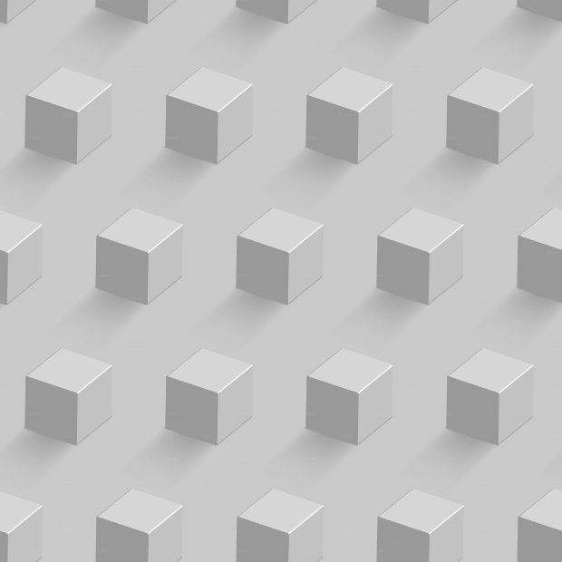white cubes seamless pattern