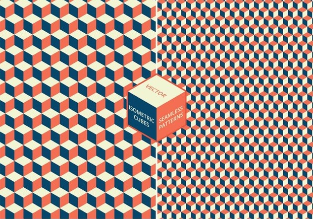 isometric cube pattern photoshop