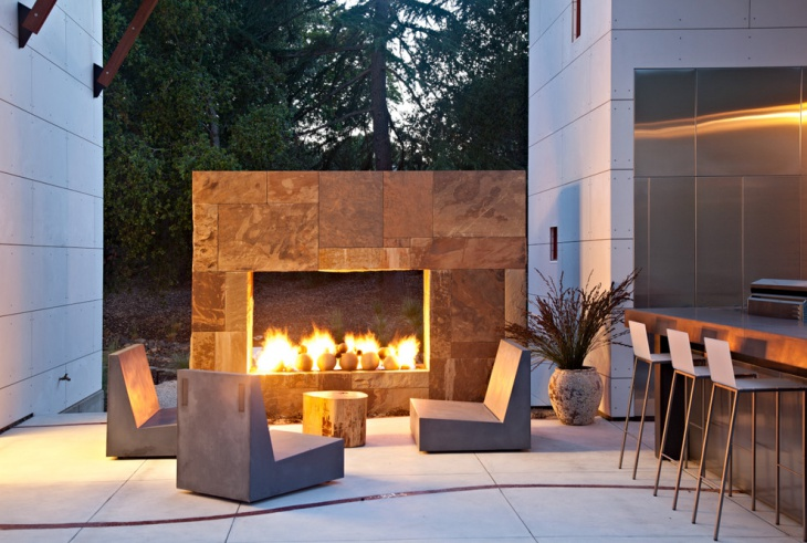 Concrete Outdoor Seating Design