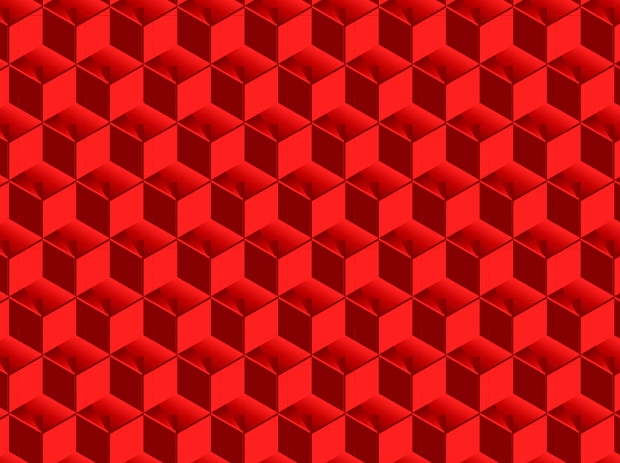 red 3d cubes pattern