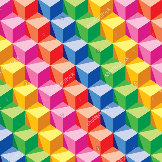 colorful geometric cube pattern