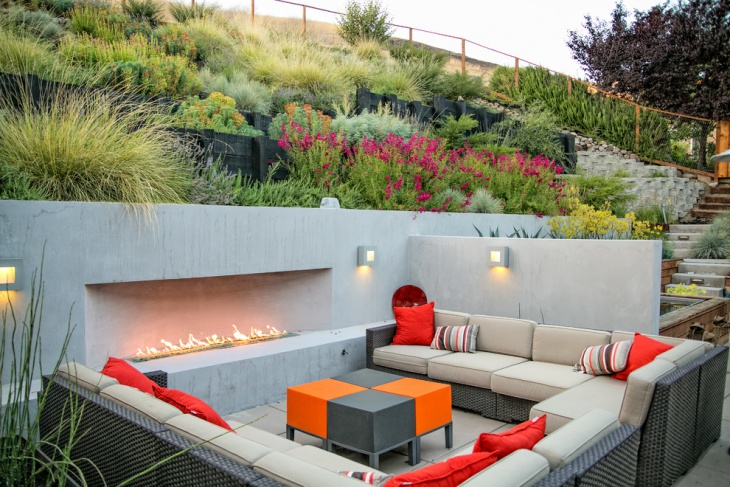 contemporary patio seating idea
