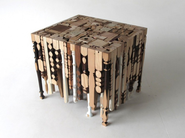 Tables made from recycled table legs