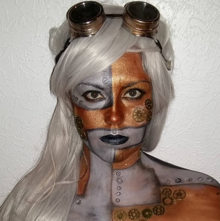 halloween illusion makeup design