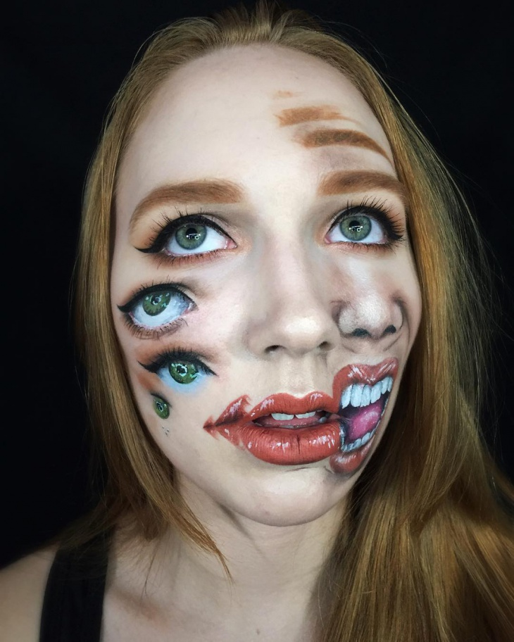 unique illusion makeup idea