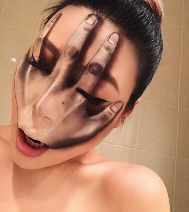 innovative illusion face paint makeover