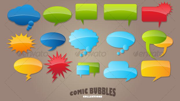 Comic Bubble Vector