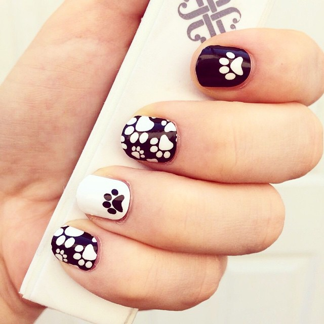 18+ Paw Nail Art Designs, Ideas