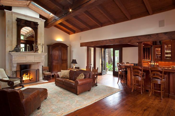 Rustic Masculine Living Room