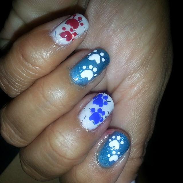 Gel Paw Nail Design Idea