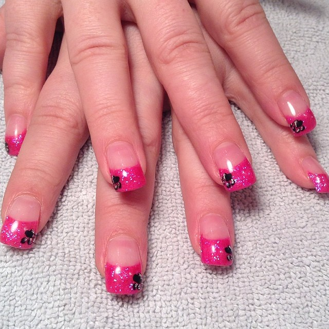 Glitter Paw Nails