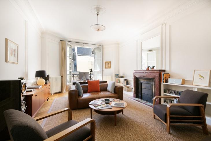 Mid Century Masculine Living Room
