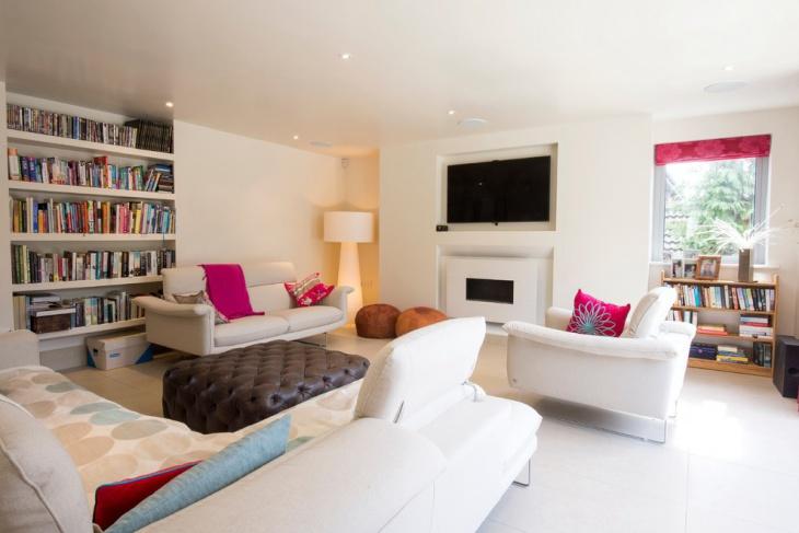 White Masculine Living Room