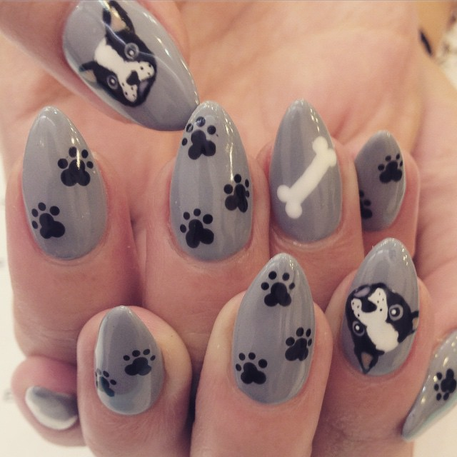 pointy paw nail art