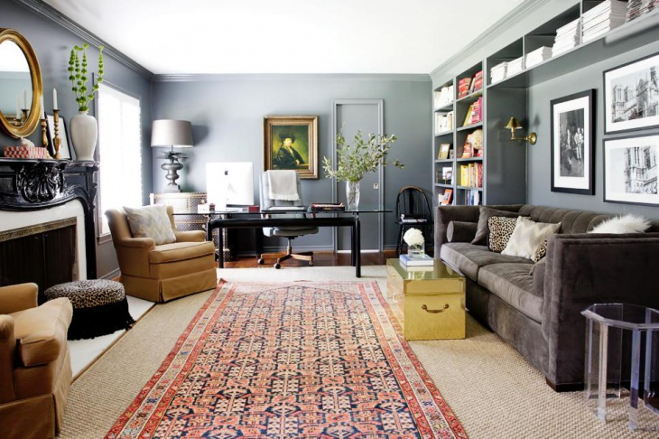 urban masculine living room