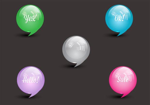 Glossy Speech Bubble Vector