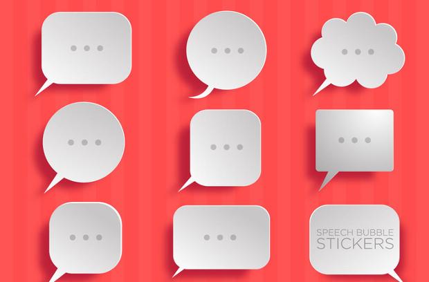 Simple Paper Speech Bubble Vector