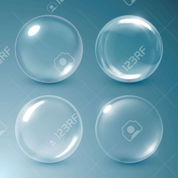 Transparent Soap Bubble Vector Illustration
