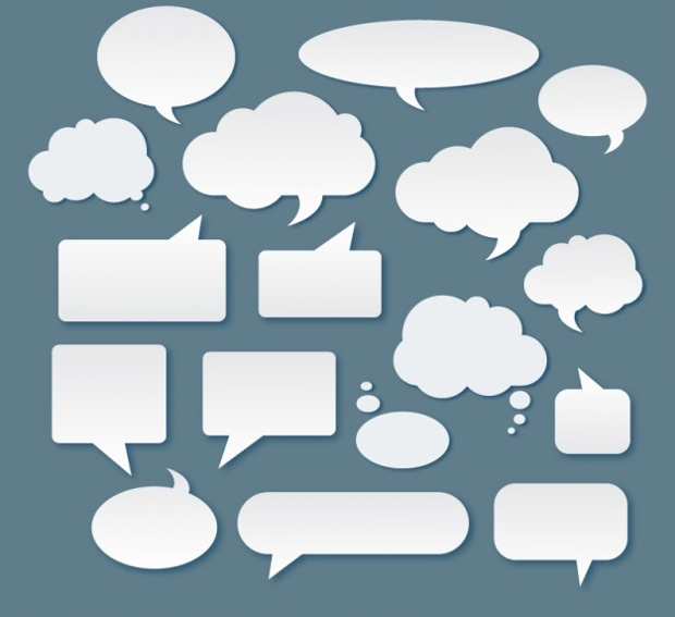 White Speech Bubbles Vector