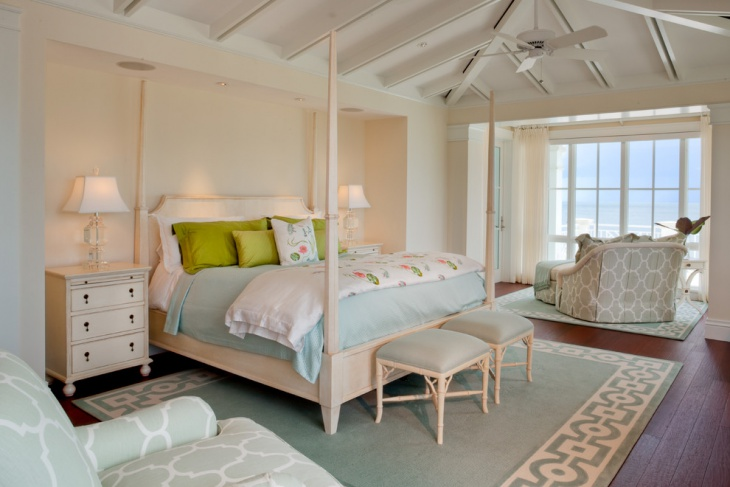 tropical beach house bedroom