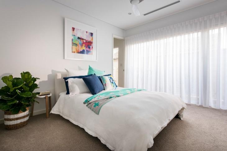 White Beach House Bedroom