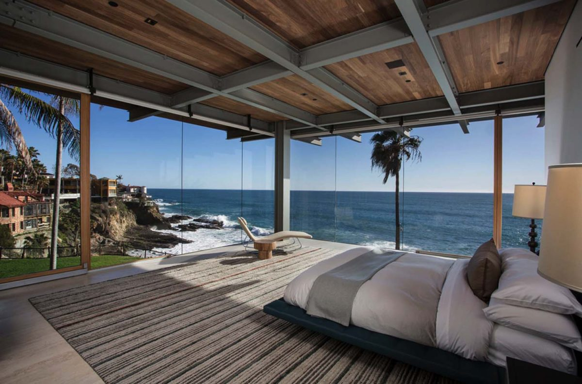 contemporary beach house bedroom