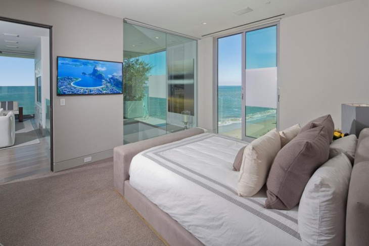 transitional beach house bedroom