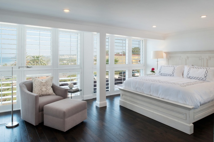 beach house white bedroom design