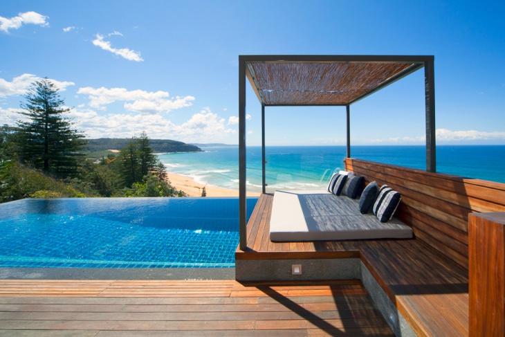 Palm Beach House Exterior Bed Design.