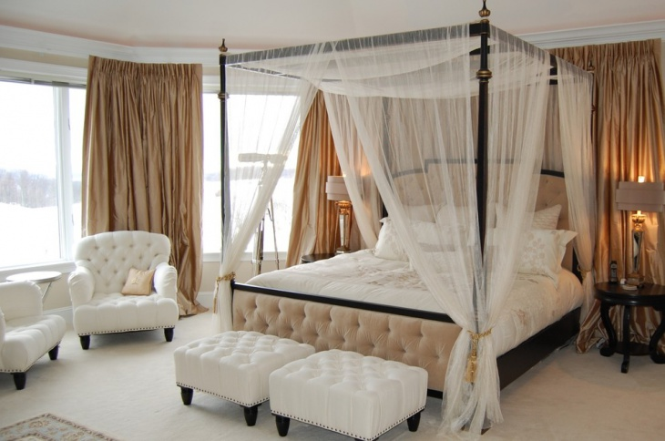 beach house canopy bedroom
