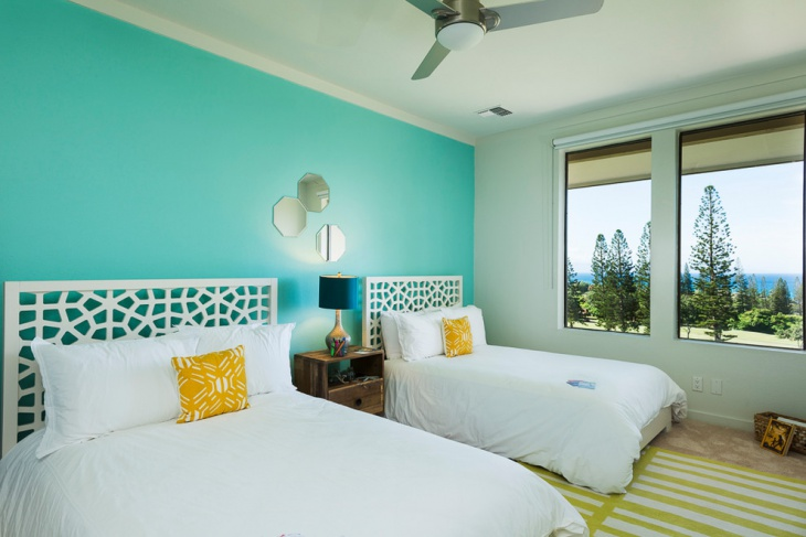 beach house twin bedroom idea