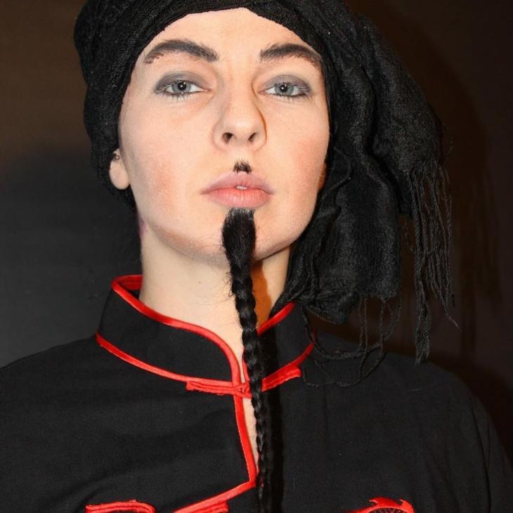 Black Costume Stage Makeup