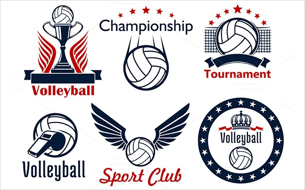 Volleyball Sport Club Icons