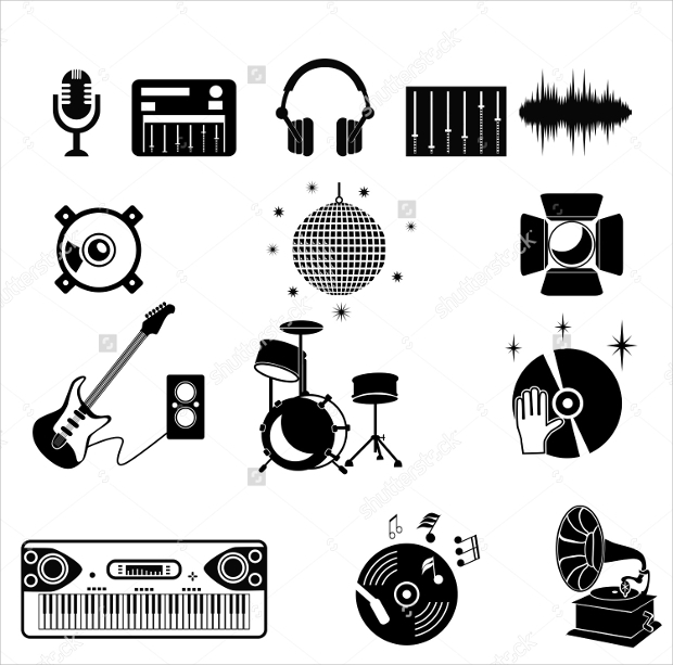 Black and White Club Icons