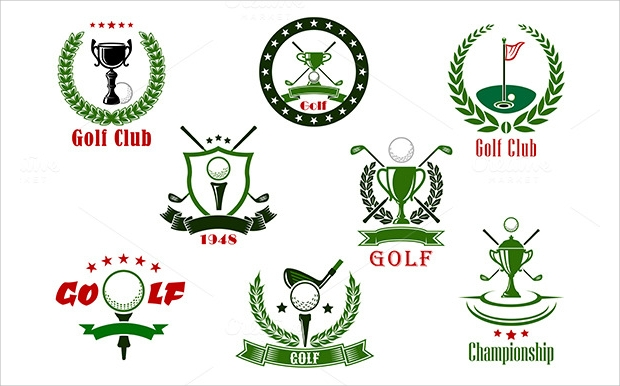 Golf club and Tournament Icons