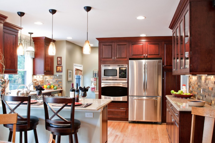 cherry wood kitchen design