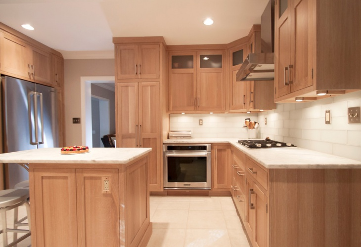 oak wood kitchen design