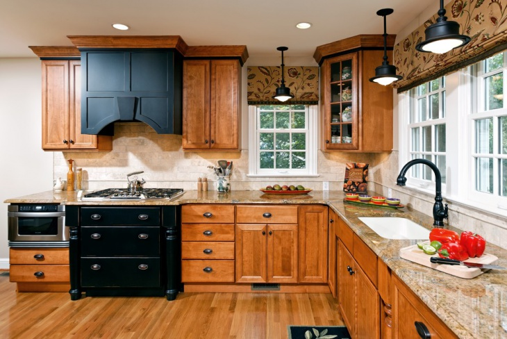 traditional wood grain kitchen
