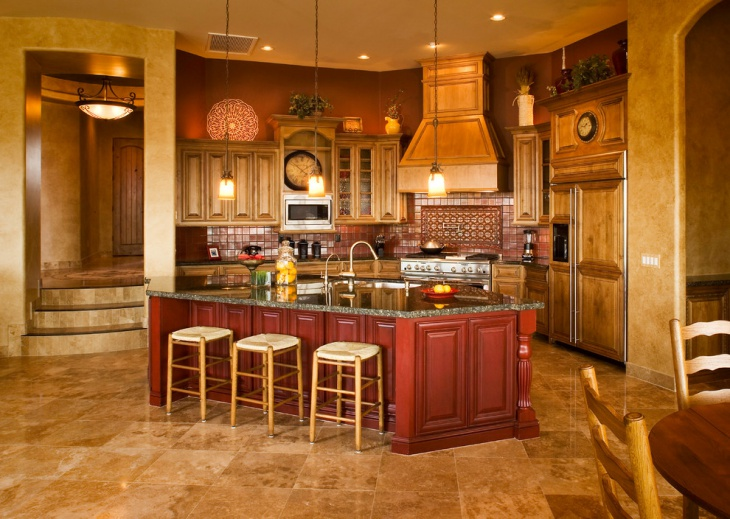 mediterranean wood kitchen