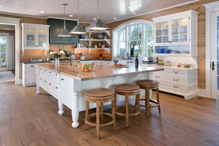 transitional wood kitchen design