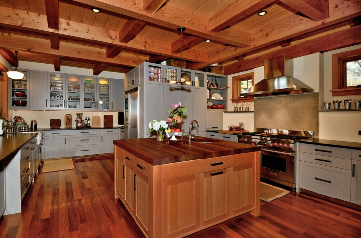 wood kitchen island
