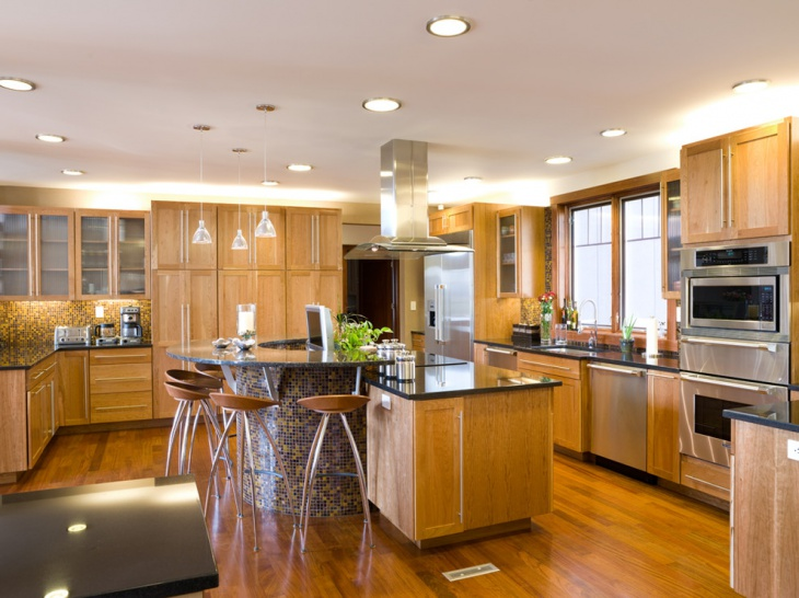 luxury wood kitchen design